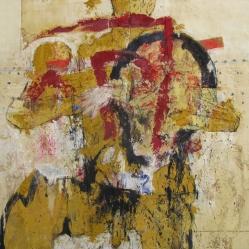 Luis Granda, Personaje sin iniciales, 2012, óleo sobre tela, 150 x 180 cm