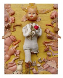 Andrés Jannou, Seppuku, 2016, collage arte objeto, 40 x 30 cm