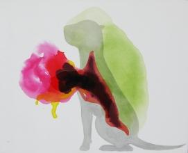 Nestor Quiñones, Sin título (Perro), 2016, óleo sobre tela, 40 x 50 cm